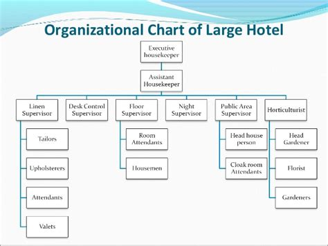 hotel organizational chart template housekeeping and cleaning equipment