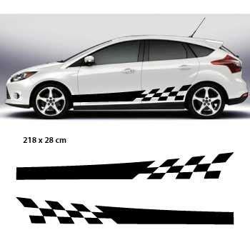 Audi Competition Aufkleber by Kit Stickers Bandes Bas De Caisse Voiture Racing Damiers