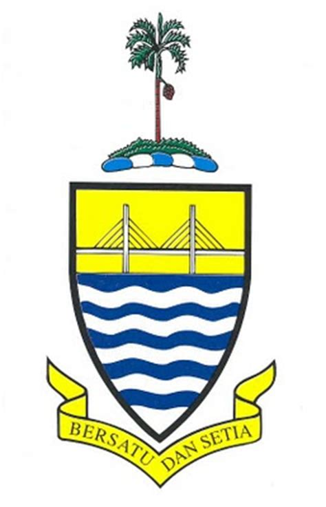Emblem Logo Tersformen Warna Kuning pendidkan sivik kewarganegaraan bendera dan jata