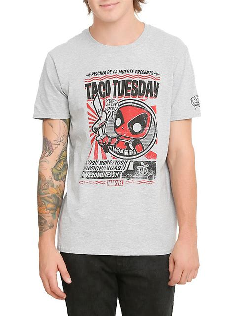 Kaos Deadpool Tacos deadpool t shirt topic cardigan with buttons