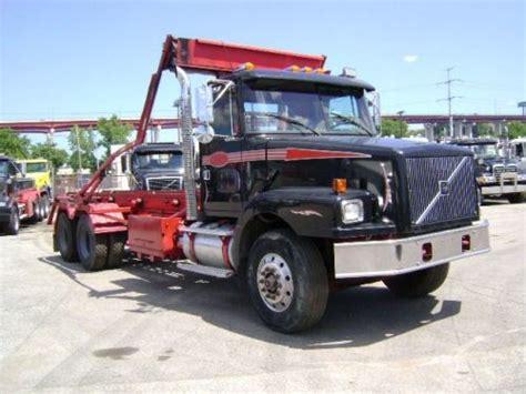 volvo rigs for sale 1997 volvo wg64 roll off truck 49 000 trash trucks