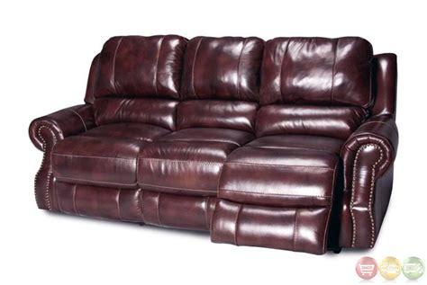 Leather Power Reclining Sofa Set Living Zeus Merlot Leather Power Reclining Sofa Set Mzeu 832p Me