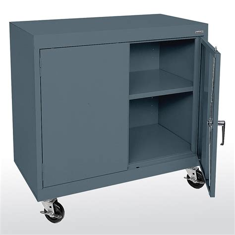 mobile metal storage cabinet sandusky cabinets ta11361830 ta11362430 mobile counter