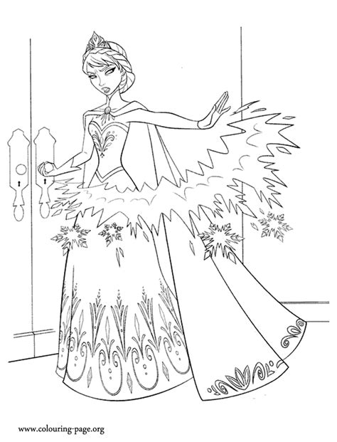 Move frozen colouring pages