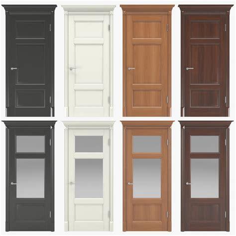 29 3 4 Interior Door 3d Model Classic Walnut