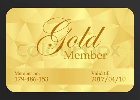 gold membership card template golden member card with registration number and date of