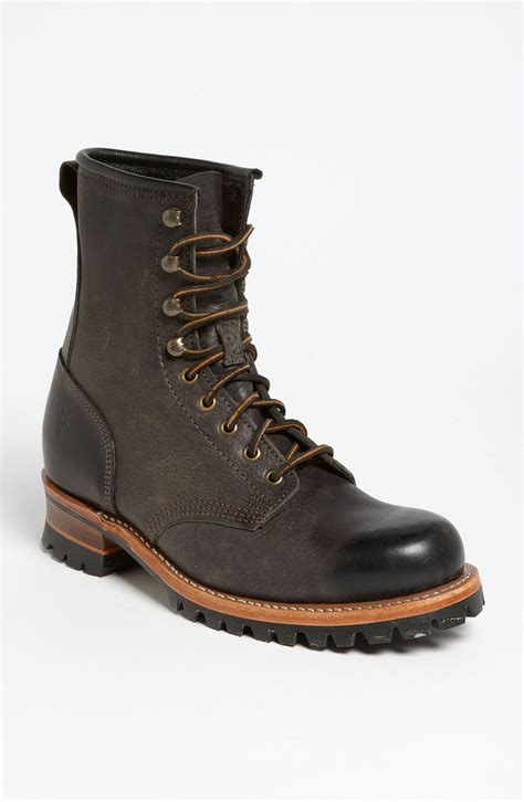 logger boots frye logger boot in brown for brown lyst