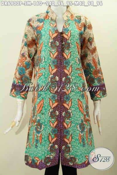 Baju Batik Pakaian Pria Bahan Cotton Batik Sm 0186 Zeintin dress batik size m baju batik kerah miring nan