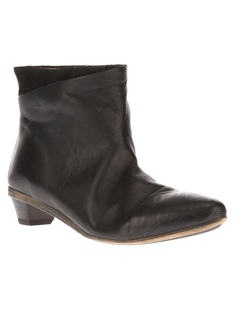 pointed toe boots marsell calf leather pointed toe boots in black lyst