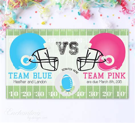 gender reveal scratch cards template 10 custom baby gender reveal scratch cards football team