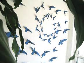 paper bird wall decor create a mural effect with 3d wall