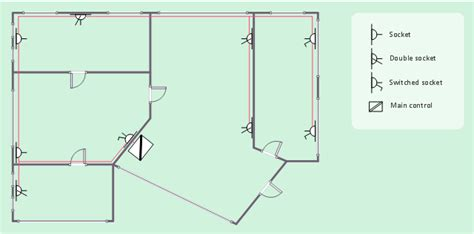 how to show electrical outlets on floor plan outlets vector stenvils library design elements
