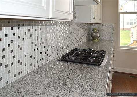 Kitchen Backsplash Peel And Stick Tiles by White Glass Metal Backsplash Tile Luna Pearl Backsplash Com