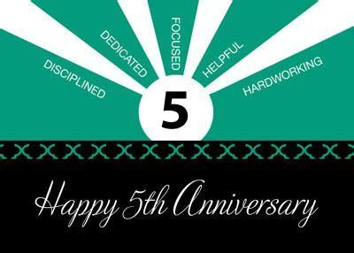 52229 Business 5 Year Employee Anniversary Green, Black
