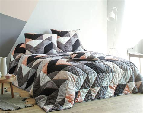 promotion linge de lit boutis patchwork style scandinave becquet