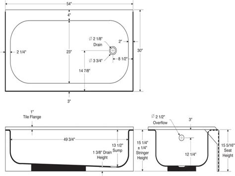 bathtub size standard toilet dimensions appendix b to part analysis
