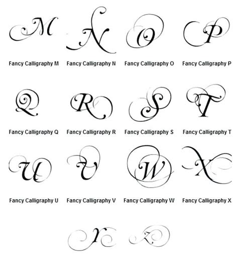Cursive Letters For Tattoos Fancy Cursive Fonts Alphabet For Tattoos Fancy Cursive Tattoo Font Template Maker