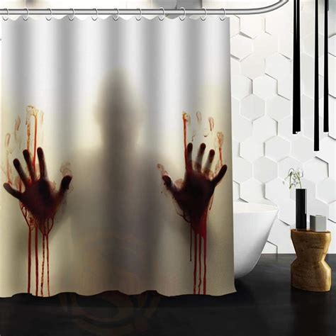 walking dead bathroom bathroom polyester fabric bath curtain printed the walking dead horrible pictures