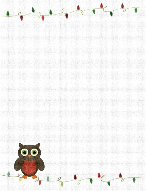 printable stationery owls 7 best images of owl printable stationary free printable