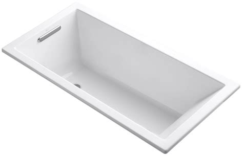 deepest bathtub available kohler k 1121 0 white underscore collection 60 quot drop in