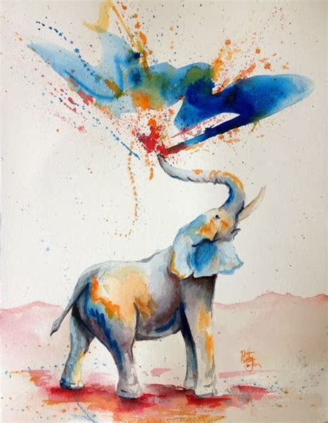 the nicest pictures elephant watercolor