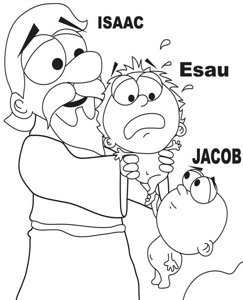 Sunday School Coloring Pages Jacob And Esau   jacob and esau coloring page home bible lessons