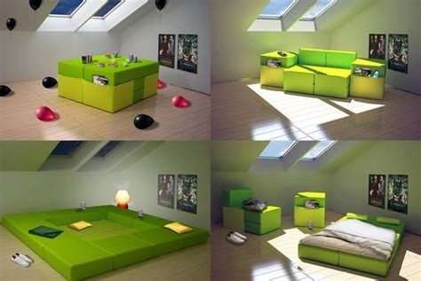 transforming bed transforming furniture sofa bed playing place and armchairs all in one modern