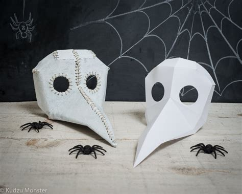 How To Make A Paper Bird Beak Mask - printable paper plague doctor mask vs bird mask diy