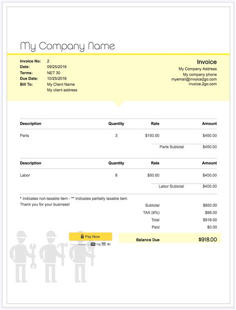 How To Create A Professional Invoice Sle Invoice Templates Invoice2go How To Create A Business Invoice Template
