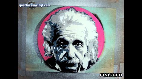 albert einstein stencil art process youtube