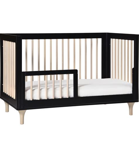 Convertible Crib To Bed Babyletto Lolly 3 In 1 Convertible Crib With Toddler Bed Conversion In Black Washednatural