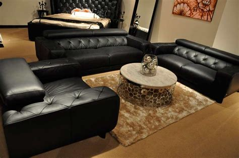 black italian leather sofa modern black italian leather sofa set vg334 leather sofas