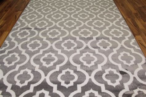 Grey Area Rug 8x10 3028 Gray White Modern Moroccan Trellis 2x3 5x7 8x10 Area Rugs Carpet Ebay