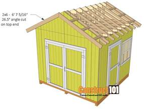 gable barn plans shed plans 10x10 gable shed construct101