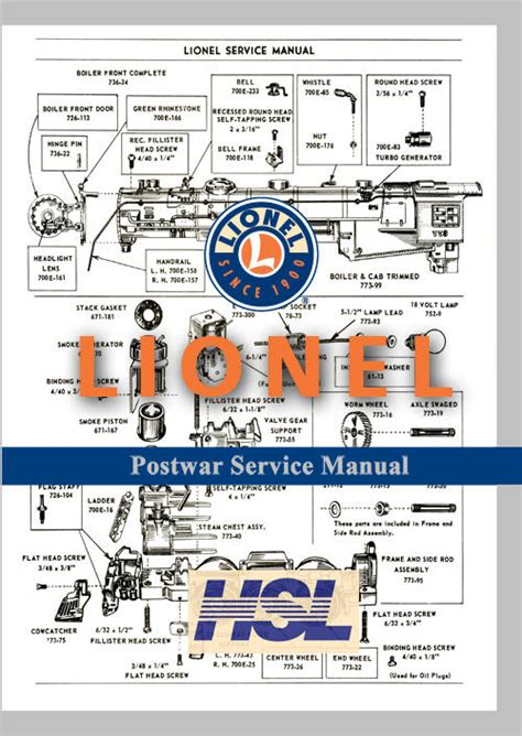 lionel parts list and exploded diagrams links for lionel exploded views and parts lists o
