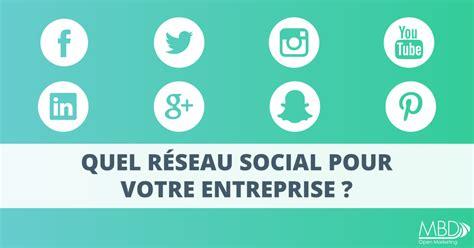 si鑒e social entreprise quel r 233 seau social pour votre entreprise mbd open
