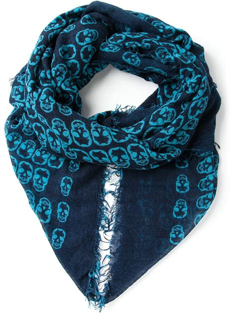 Skull Scarves From Dolly Dagger by Lyst Zadig Voltaire Delta Skull Scarf In Blue