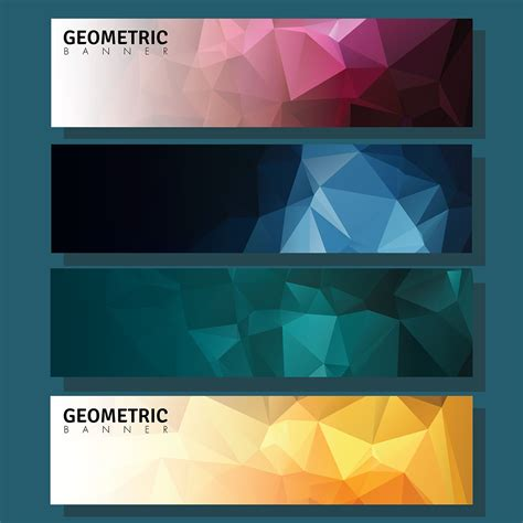 geometric banner   vectors clipart graphics