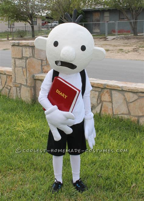 coolest homemade costume idea diary   wimpy kid costume
