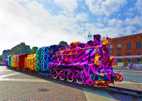 knit bombing yarn bombed by olek opencity projects