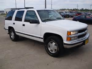 Marion Chevrolet Chevrolet Tahoe White 1998 With Pictures Mitula Cars