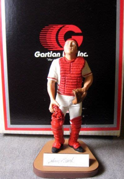 johnny bench statue lot detail johnny bench signed quot gartland statue quot w coa