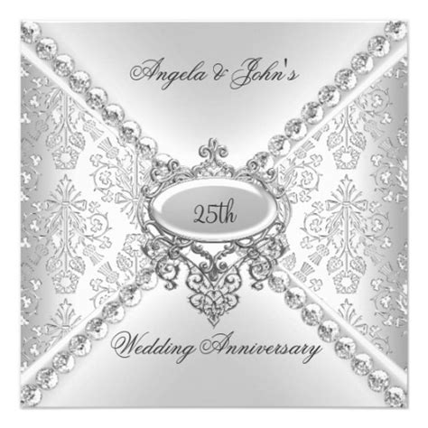 silver wedding anniversary invitations templates 13 25th wedding anniversary program template images vow