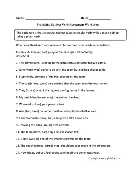 Subject Verb Agreement Worksheet Pdf by Word Usage Worksheets Subject Verb Agreement Worksheets