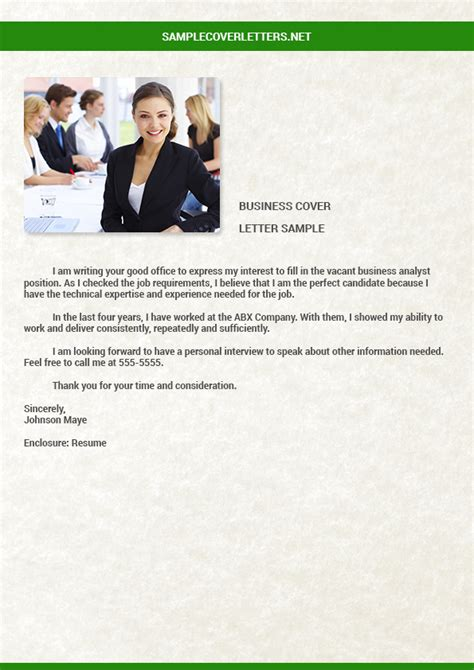 business cover letter business plan cover letter sle cover letters