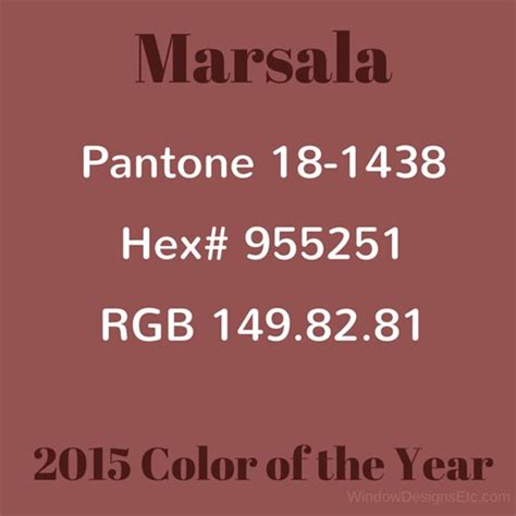 pantone color of the year hex color values of marsala in pantone hex and rgb marie