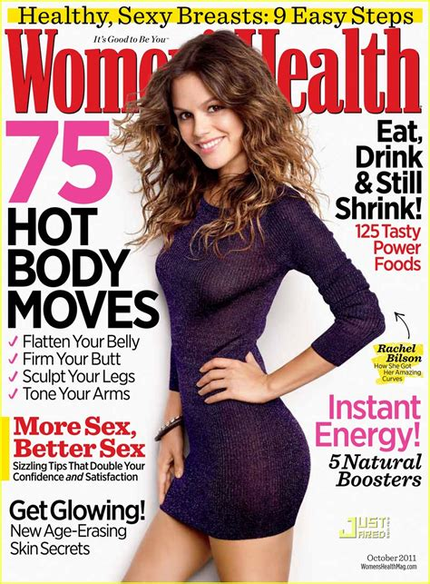 women magazine rachel bilson covers women s health october 2011 photo