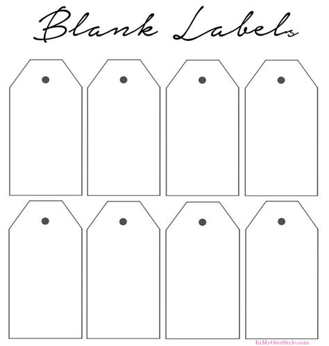 How To Organize In Style Using Dollar Store Baskets In My Own Style Blank Label Template