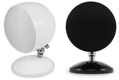 sphere   shape ball speaker black pair