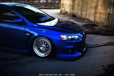 mitsubishi evo slammed all about balance sam cbell s beautiful evo